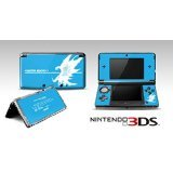 Monster Hunter 4 Themed Blue Limited Edition VINYL SKIN STICKER DECAL COVER for Nintendo 3DS Console System