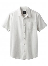 prAna Ecto ss, Grey Heather, Medium - Green Organic Woven Shirt