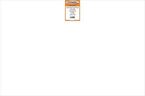 (Clearprint 1000H Design Vellum Sheets, 16 lb., 100% Cotton, 24 x 36 Inches, 100 Sheets Per Pack, Translucent White, 1 Each (10201528))