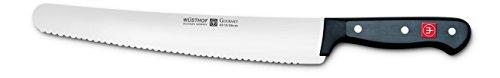 (WÜSTHOF Gourmet 10 Inch Super Slicer Knife| Rounded Tip Long Blade Slicing Knife | Precision Forged High-Carbon Stainless Steel German Made Roast Knife - Model 4519-7)