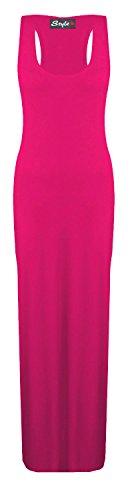 Glossy Look - Vestido - Básico - Sin mangas - para mujer Cereza