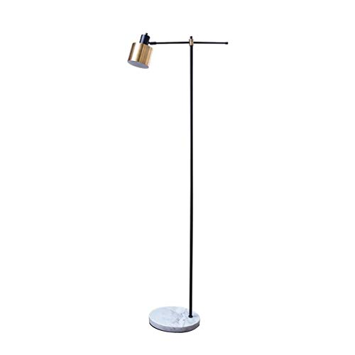 Floor Lamp NordicWrought Iron Gold Black Marble Base Reading Standing Light Bedroom Living Room Foot Switch