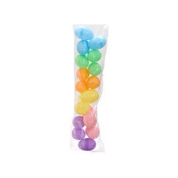 Each Colour - 18 Pastel Plastic Hollow Easter Eggs, 2 1/4