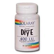 400 Dry Caps - Dry Vitamin E-400 IU Solaray 100 Caps by Solaray