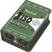 Radial Engineering J-ISO Jensen Transformer Equipped Stereo Isolator +4dB to -10dB Converter