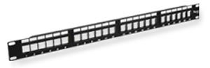 ICC IC107BP241 Patch Panel, Blank, HD, 24-Port, 1 RMS