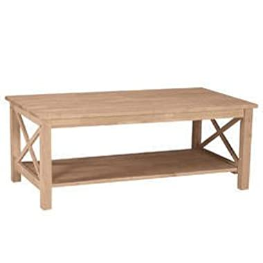 International Concepts OT-70C Hampton Coffee Table Unfinished