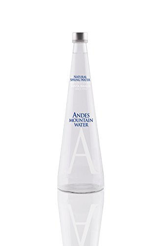 Andes Mountain Water 750ml - 25.4 ounces Still Water (Pack of 8/Glass) (750 Ml Glass Liquor Bottles)