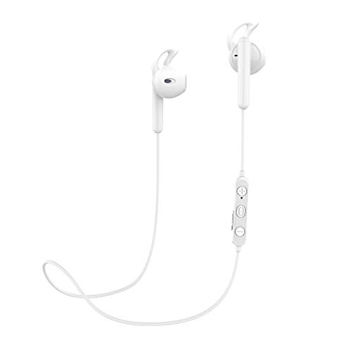Bluetooth Earbuds with mic,Wireless Earbuds, HiFi Bass Stereo in-Ear Earbuds for Running,Noise Cancelling Bluetooth Earphones (Bluetooth 5.0 & IPX5 & White)