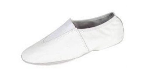 Leather Gymnastic Shoe (13ch, White)