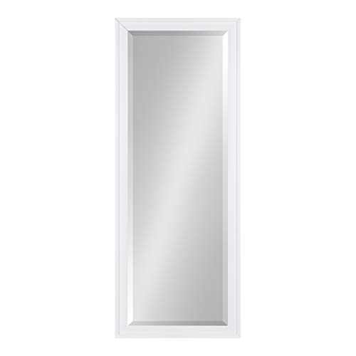 Scalloped Mirror White - DesignOvation Bosc Framed Full Length Panel Wall Mirror, 19.5x51.5, White