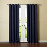 Sleep Well Blackout Curtains Toxic Free Energy Smart Thermal Insulated,52 W X 84 L Inch,Grommet Top,Set Of 2 Panels Navy BLUE 06 Curtains With Bonus Tie Back