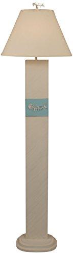 Coast Lamp Cottage/Turquoise Sea Bone Fish Panel Floor Lamp