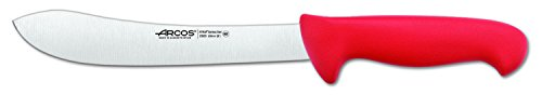 Arcos 8-Inch 200 mm 2900 Range Curved Butcher Knife, Red