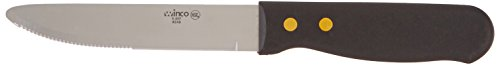 Winco – Round End Steak Knife with Plastic Handle (12 Pieces)