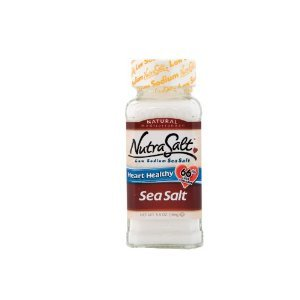 NutraSalt Low Sodium Sea Salt, 5.5-Ounce Containers (Pack of 3) by NutraSalt
