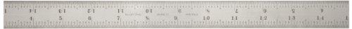 Starrett B18–16R Kombinationswinkel Filzschuhe Klinge mit Zoll Graduierung, Sets schräg und Winkelmesser, Regular Finish, 16R Graduation Filzschuhe, 2,5cm Breite, 3/81,3cm Stärke, 45,7cm Größe