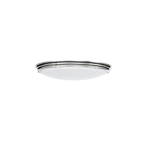 Sea Gull Lighting 59152BLE-962 Light Fluorescent Nexus Flush Mount Ceiling Light, Brushed Nickel
