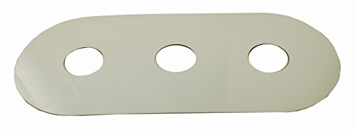 Smitty Plate, Three Hole, Used to Cover Shower Wall Tile, Acrylic in Mirror Finish - By PlumbUSA #38100 (Plate Renovation Cover)