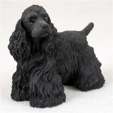 Black Original Dog Figurine (Cocker Spaniel, Black Original Dog Figurine (4in-5in))