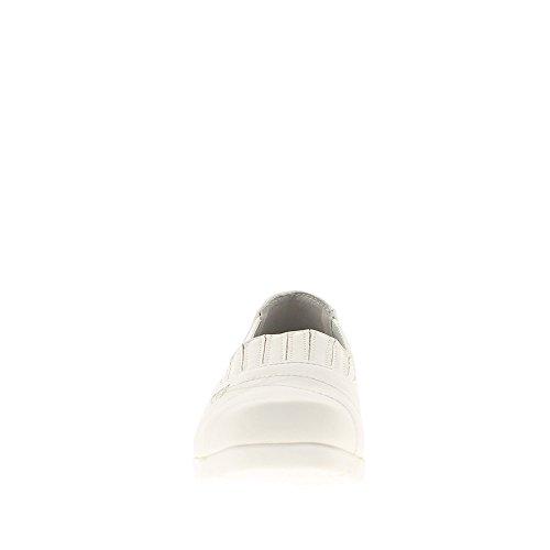 Chaussures femme blanches confort avec dessus élastiqué