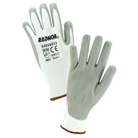 Radnor X-Large 13 Gauge HPPE Cut Resistant Gloves with Polyurethane Coating (4 Pairs)