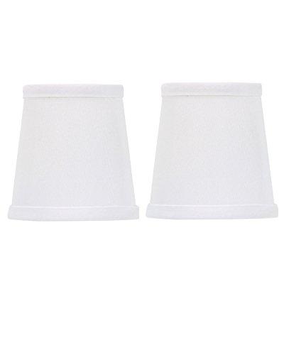 UpgradeLights White 4 Inch Set of 2 Drum Chandelier Lamp Sha