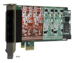 Digium 1A4B03F 4 Port Analog Pci-express X1 Card With 4