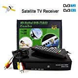 HD Satellite Receiver FTA DVB T2 S2 Decoder TV Tuner Digital Sat Receiver Combo 2 in 1 Terrestrial Satellite Receptor, Works with Free to Air Satellite Dish, Supports H.264/MPEG-2/MPEG-4/AVS