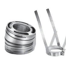 DuraVent 6DP-E30 (9066KIT) DuraPlus Class-A Chimney Pipe 30-Degree Galvanized Steel Elbow Kit Includes 2 Elbows and 1 Elbow Strap, 6-Inch Diameter