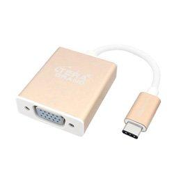 【まとめ 4セット】 テック Tera Grand USB3.1 TypeC-VGA変換アダプタ USBからVGAコネクタへ変換 USB31-TE298-GD B07KNT2HXD