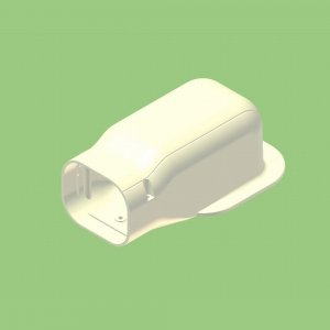 10個セット 配管化粧カバー 出口化粧カバー(後付用) 77タイプ グレー KD2-75S-G_set