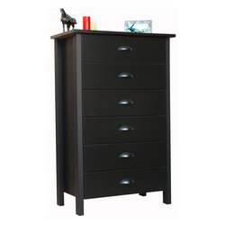 American Furnishings 6 Drawer Nouvelle Chest, 28½ W x 16 D x 44½ H, - Tall Six Dresser Drawer