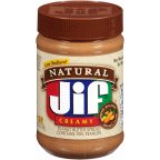JIF Natural Creamy Peanut Butter 28 OZ (Pack of 20)