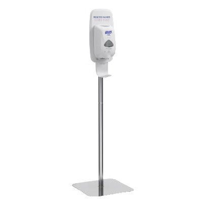 Purell TFX Floor Stand for TFX Touch Free Dispensers in Polished Chrome