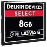 - Delkin 8Gb Compact Flash Memory Card 500x [DDCFR500-8GB]