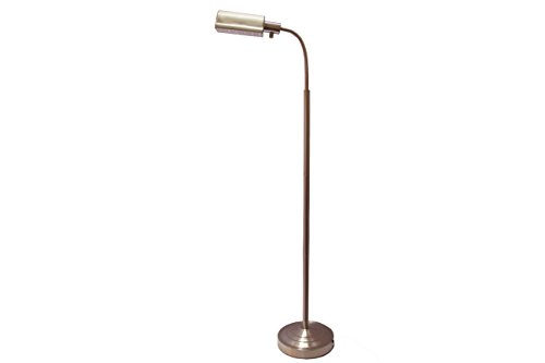 Daylight Nickel Floor Lamp - daylight24 402051-15 Natural Battery Operated Cordless Floor Lamp, 19.75