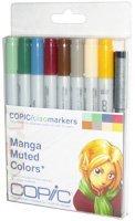 Copic Markers IMNGAMUT 9-Piece Ciao Manga Set, Muted