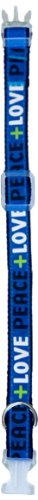 Waghearted Love and Peace Dog Collar, Blue, Large, My Pet Supplies