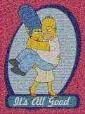 Simpson's Photomosaic Jigsaw Puzzle Featuring Homer and Marge