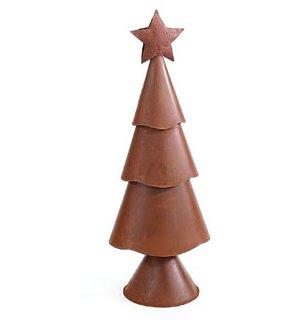 Large Rusty Three-Tier Christmas Tree