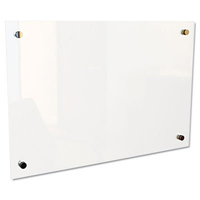 Enlighten Glass Board, Frameless, Frosted Pearl, 36'' x 24'' x 1/8, Sold as 1 Each