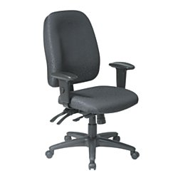 WorkPro 2000 Series Multifunction Fabric High-Back Chair, Black