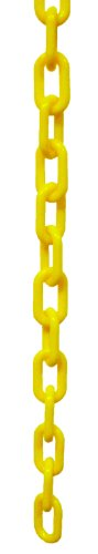 CROWD CONTROL CENTER PLASTIC CHAIN 10FT WITH S HOOKS (YELLOW) -