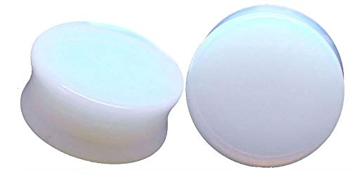 soscene Opalite Organic Stone Ear Plugs Gauges Sold in Pairs (22MM)