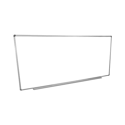 Luxor Home Office School 96W x 40H Wall-Mounted Magnetic Dry Erase Whiteboard with Aluminum Frame
