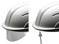 Centurion Vision Plus ABS Helmet w/ Integrated Retractable Visor/Safety Glasses. Lightweight Design with Ratchet Headband - White by Centurion (Image #2)