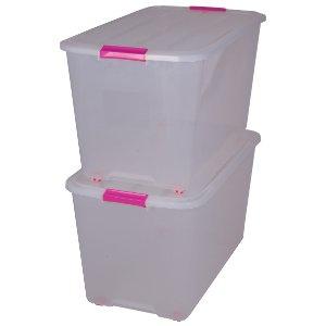 Caja de almacenamiento con ruedas, caja de almacenaje, caja con asas, caja plastico