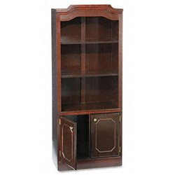 DMI Governor's Series Bookcase w/Doors, 3 Shelves, 30 W by 14 D by 74 H, Mahogany