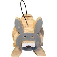 Bunny Stack - DPD WELLIVER Stacks Bunny Bird House - Color: Gray & Natural